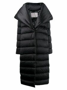 Herno oversized lapel padded coat - Black