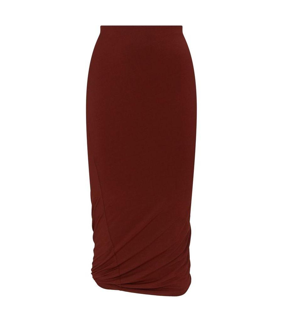 Twist Hem Midi Skirt