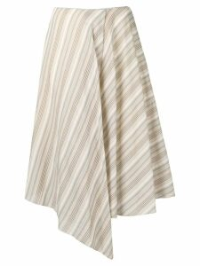 Acne Studios pointed diagonal stripe midi skirt - Neutrals