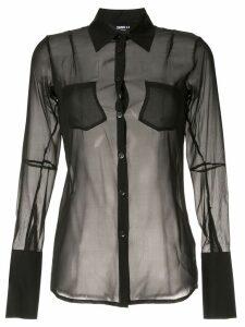 Yang Li sheer shirt - Black
