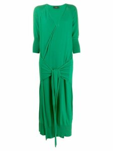 Maison Flaneur wrap style knitted dress - Green