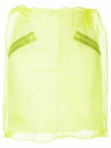 Yang Li organza layered mini skirt - Yellow