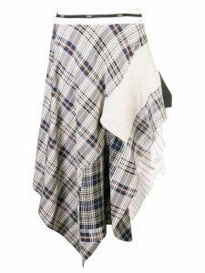 Monse asymmetrical skirt with pachwork - Blue