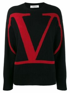 Valentino VLOGO cashmere sweater - Black