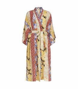 Nat Patchwork Kimono Robe
