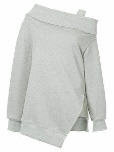 Goen.J one-shoulder strapped jersey jumper - Grey