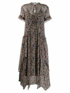 Coach floral print midi dress - Neutrals