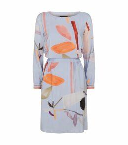 Graphic Silk Dress