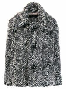 Dsquared2 structured cocoon jacket - Black
