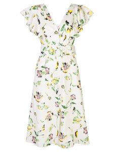 Tanya Taylor Inez floral midi dress - NEUTRALS