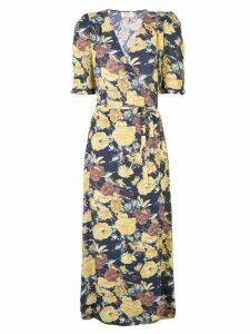 Sea Ella floral wrap dress - Black