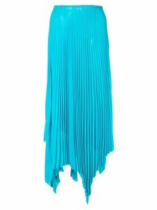 Marques'Almeida asymmetric pleated skirt - Blue