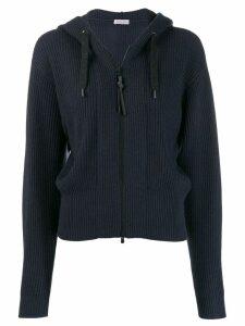 Brunello Cucinelli zipped hoodie - Blue