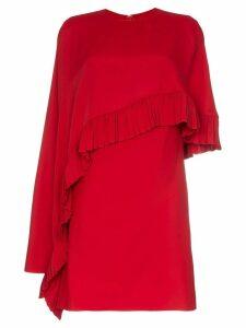 Valentino asymmetric cape mini dress - Red