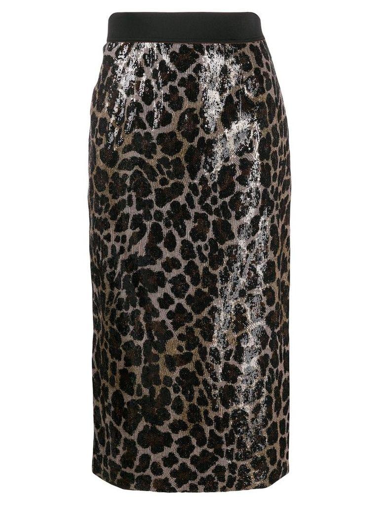 Antonio Marras sequined pencil skirt - Neutrals