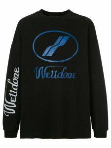 We11done logo sweatshirt - Black
