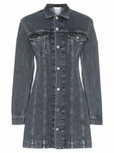 Helmut Lang collared denim mini dress - Black