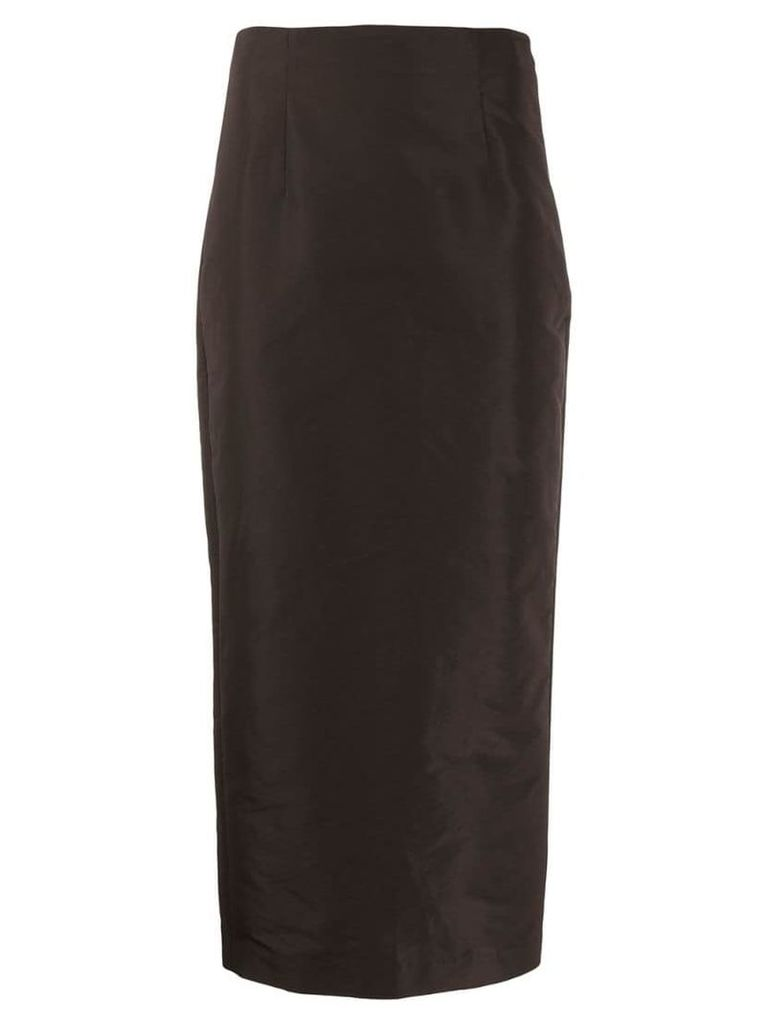 Theory fitted midi skirt - Brown