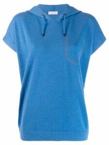 Brunello Cucinelli decorative pocket hoodie - Blue