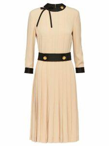 Prada button embellished dress - Neutrals
