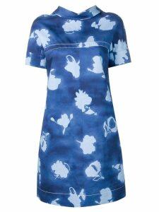 Marni floral print shift dress - Blue