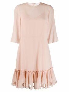 See By Chloé ruffled hem dress - PINK