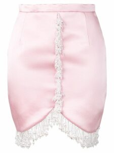 Christopher Kane pearl satin mini skirt - Pink