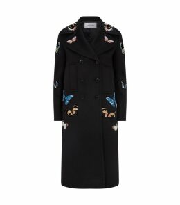 Embroidered Butterfly Coat