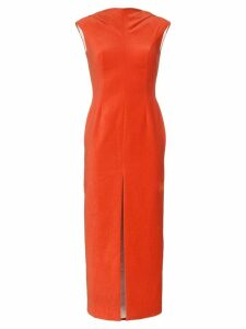 Situationist sleeveless front-slit dress - Red