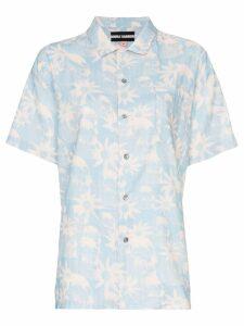 Double Rainbouu floral-print Hawaiian shirt - Blue