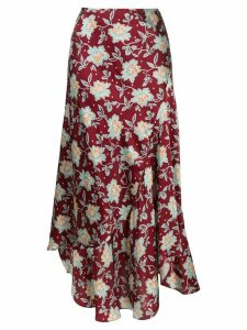 Chloé floral print midi skirt - Red