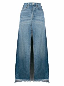 Marcelo Burlon County Of Milan vintage wash denim long skirt - Blue