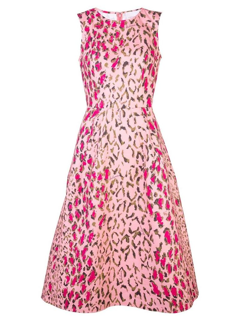 Carolina Herrera animal print midi dress - Pink