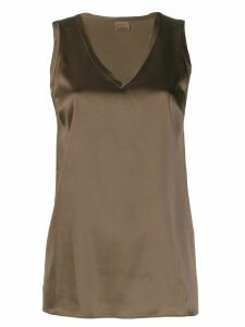 Brunello Cucinelli v neck tank top - Brown