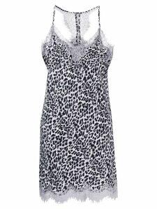 Gold Hawk leopard print slip mini dress - Grey