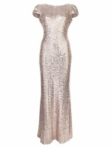 Badgley Mischka sequin embellished gown - Metallic