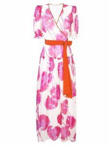 Diane von Furstenberg floral wrap maxi dress - Pink