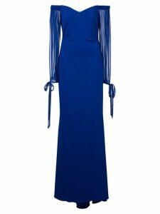 Badgley Mischka off-the-shoulder gown - Blue