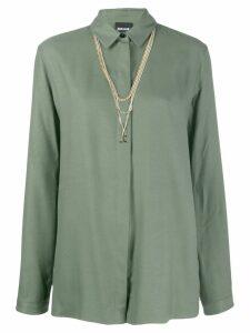 Just Cavalli long-length shirt - Green