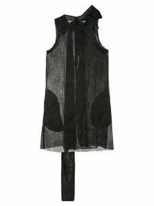 Yang Li jacquard bow mini dress - Black