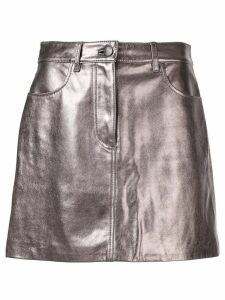 Nobody Denim Leather Piper Skirt - Metallic
