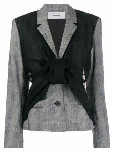 Chalayan asymmetric blazer vest jacket - Black