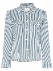 FRAME Engineer stripe shirt jacket - Blue