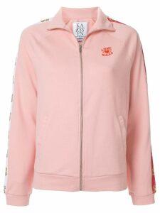 Zoe Karssen Love Rules zipped-up jacket - Pink