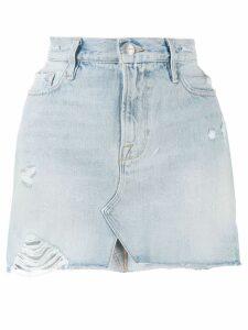 FRAME distressed mini denim skirt - Blue