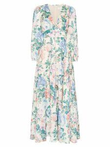 Zimmermann Verity plunge floral print dress - Multicolour