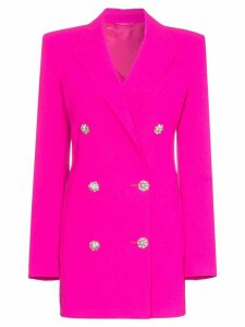 Attico double-breasted long-line blazer - Pink