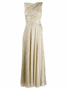Talbot Runhof draped evening gown - Gold