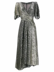 Talbot Runhof v-neck sequin dress - Grey