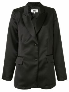 Mm6 Maison Margiela cut out single-breasted blazer - Black